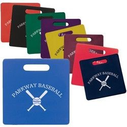 Seat Cushions - Go beyond the bake sale for your next fundraiser with custom printed spirit items. Perfect for fall sport events. http://www.promosontime.com/i/60/koozie-stadium-cushions.htm