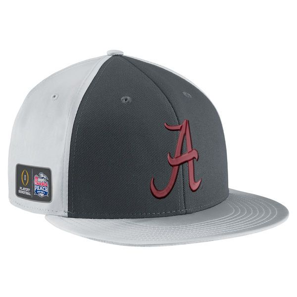 Alabama Crimson Tide Nike College Football Playoff 2016 Peach Bowl Champions Players True Snapback Adjustable Hat - Anthracite - $26.99