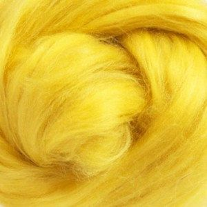 Tussah Silk (Top) Sliver - Sunshine (Yellow) - 1oz or .5oz by NickelbeeArtStudio on Etsy