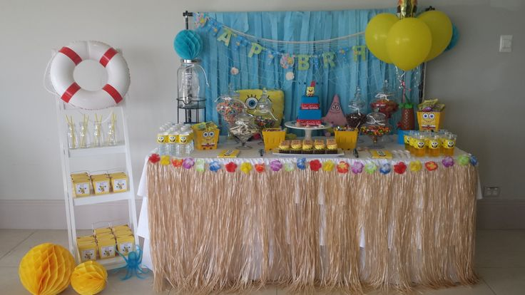 Spongebob Candy Buffet By Platinum Invitations & Candy Buffets