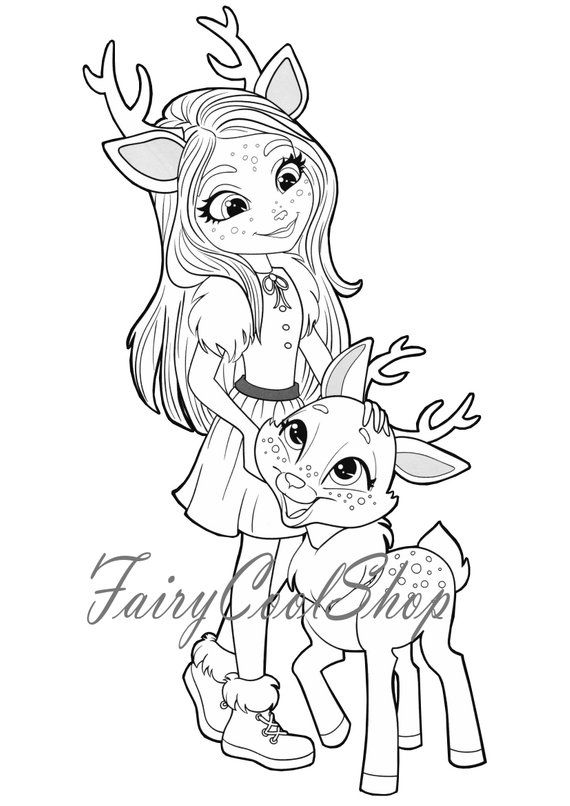 Digital Coloring Images 17 Pages A4 Enchantimals Printable Etsy In 2021 Cute Coloring Pages Fox Coloring Page Cool Coloring Pages