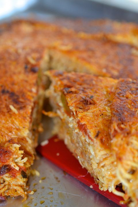 Fried Spaghetti and Meatball Pie - i usually don't like fried stuff but this sounds gooood