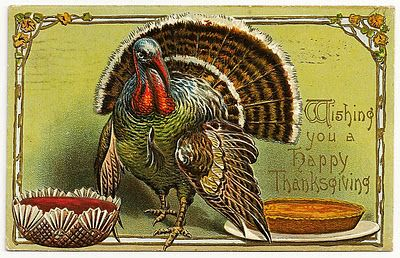 Free Printable Vintage Thanksgiving Post Cards from my personal collection: Posts Cards, Cards Fall Th, Pumpkin Pies