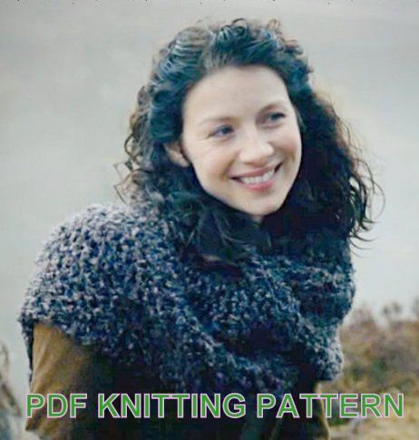 Outlander Inspired Claire's Shawl Cowl Shoulder by KnitPlayLove