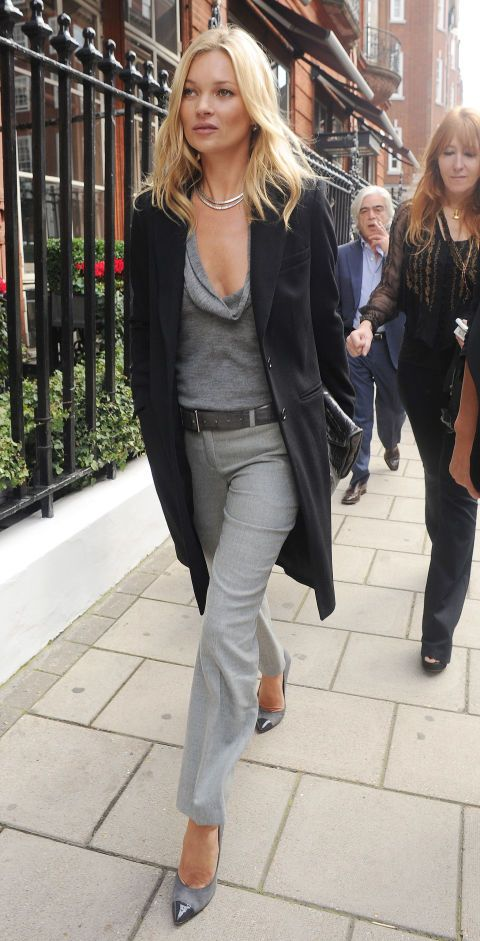 STYLE ICON: Kate Moss. She always looks amazing. I love her edgy style and how she is always ahead of the curve. I don't like all the black and gray or heels though. I like color and flats!