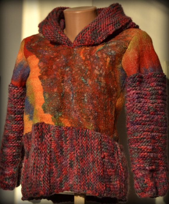 Felted jacket girls' clothing knitting blouse fall in by Gariana