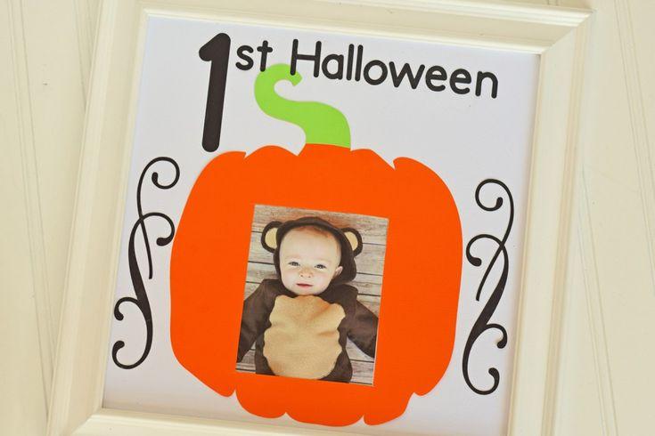 First Halloween Photo Frame on Cricut DS