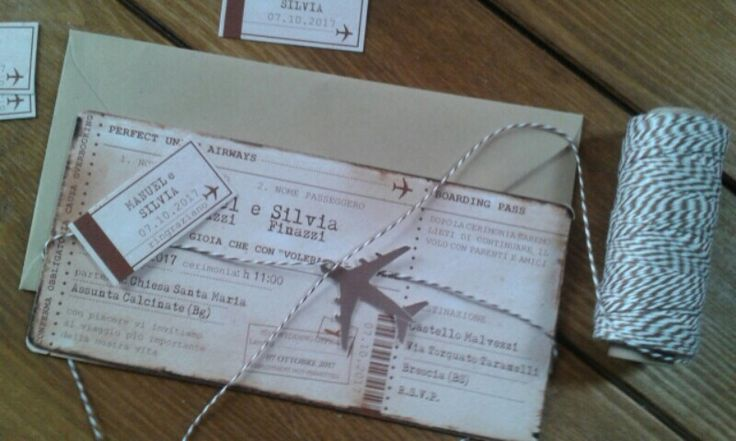Wedding invite ticket - boarding pass - invito ticket - partecipazione viaggio