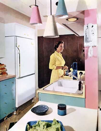 Kitchen In Pink And Blue 1960s For The Current Home