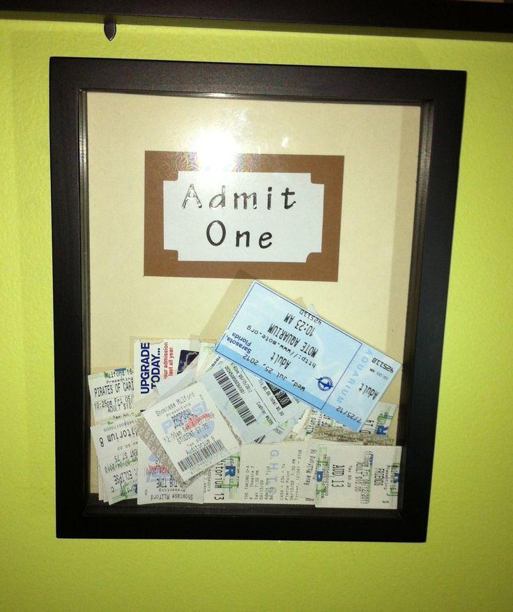 Old tickets? Admit One Frame