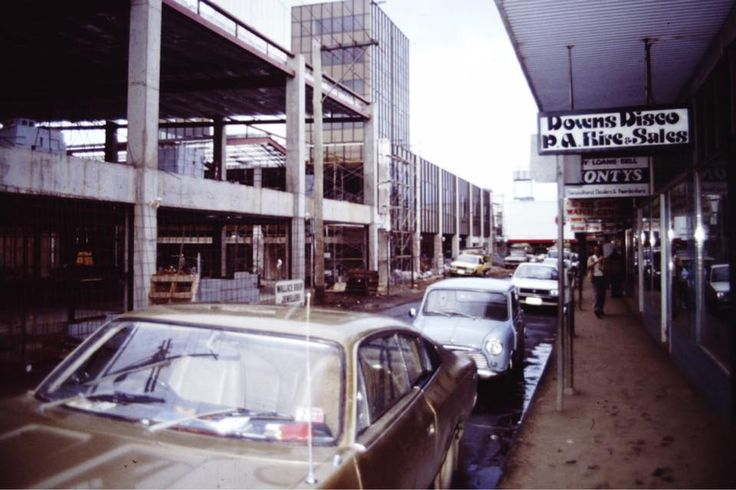 Bell St Mall 1982. When is was a road.