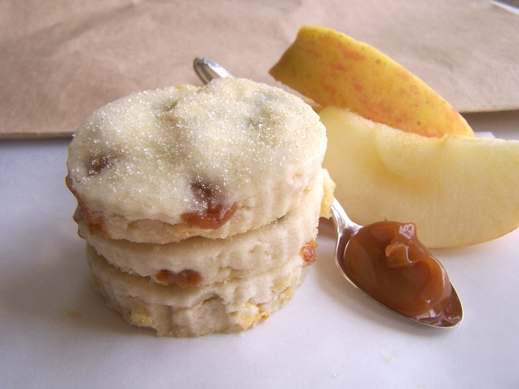 Scrumptiously marvelous looking Caramel Apple Shortbread Cookies. #food #caramel #apple #shortbread #cookies