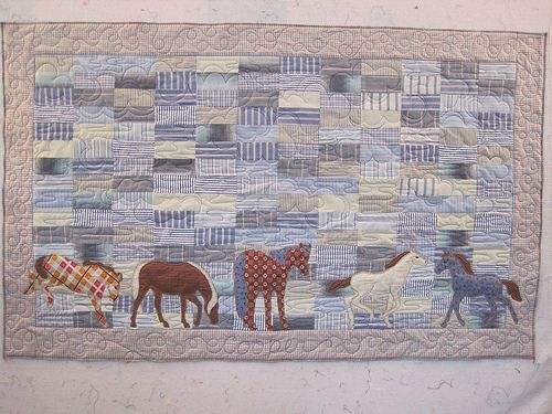 Cowboy baby quilt