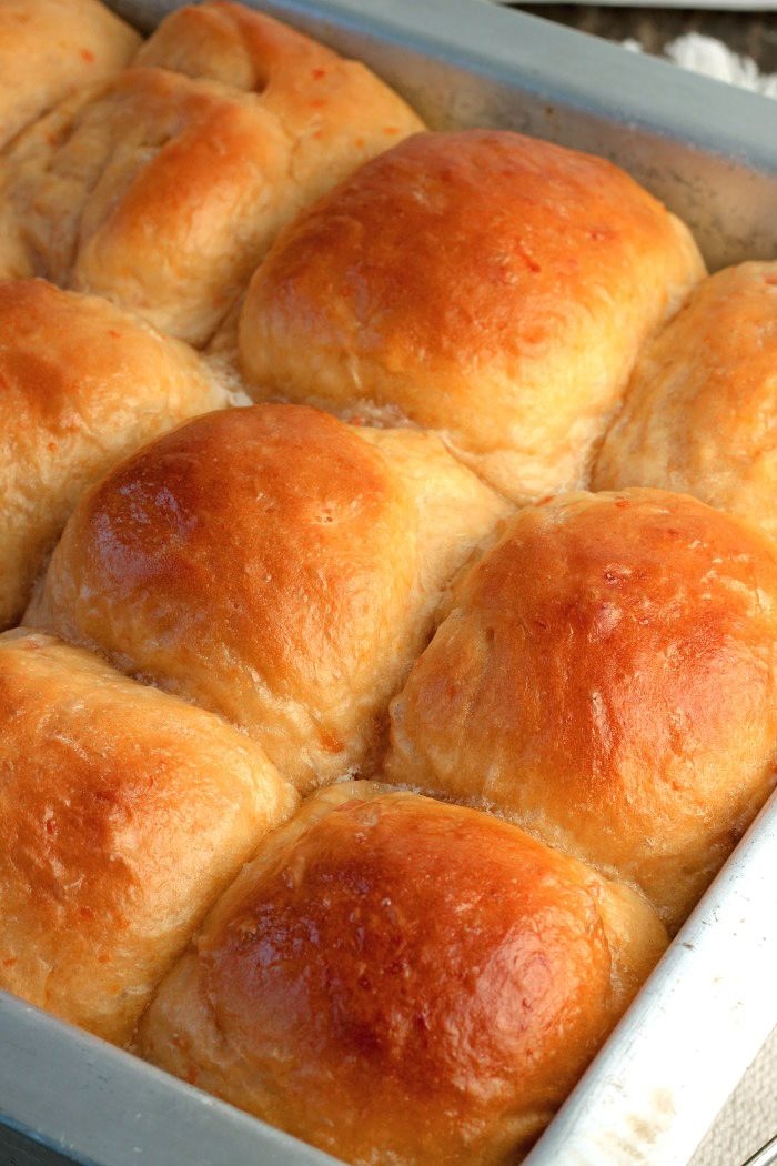 Sweet Potato Dinner Rolls are very fluffy,soft and delicious! The recipeis extremely easy to make using either fresh or canned mashed sweet potatoes.