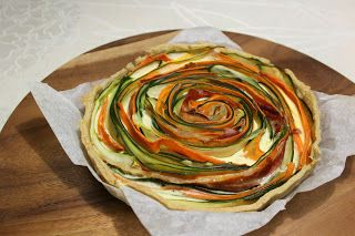 ArjaMarjan keittiössä: Vegetable pie with a litle ham twist