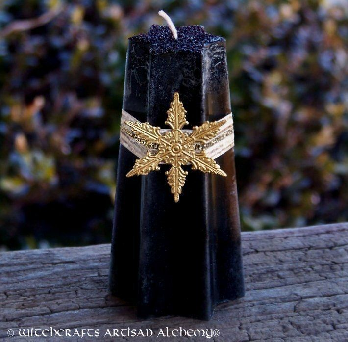 """Witchcrafts Artisan Alchemy - DRAGON STAR Old European """"Europa the Lawspeaker"""" Star Pillar Candle,  (http://www.witchcraftsartisanalchemy.com/dragon-star-old-european-europa-the-lawspeaker-star-pillar-candle/)"""
