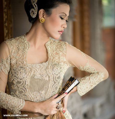 Typical Indonesian Fashion Of Kebaya