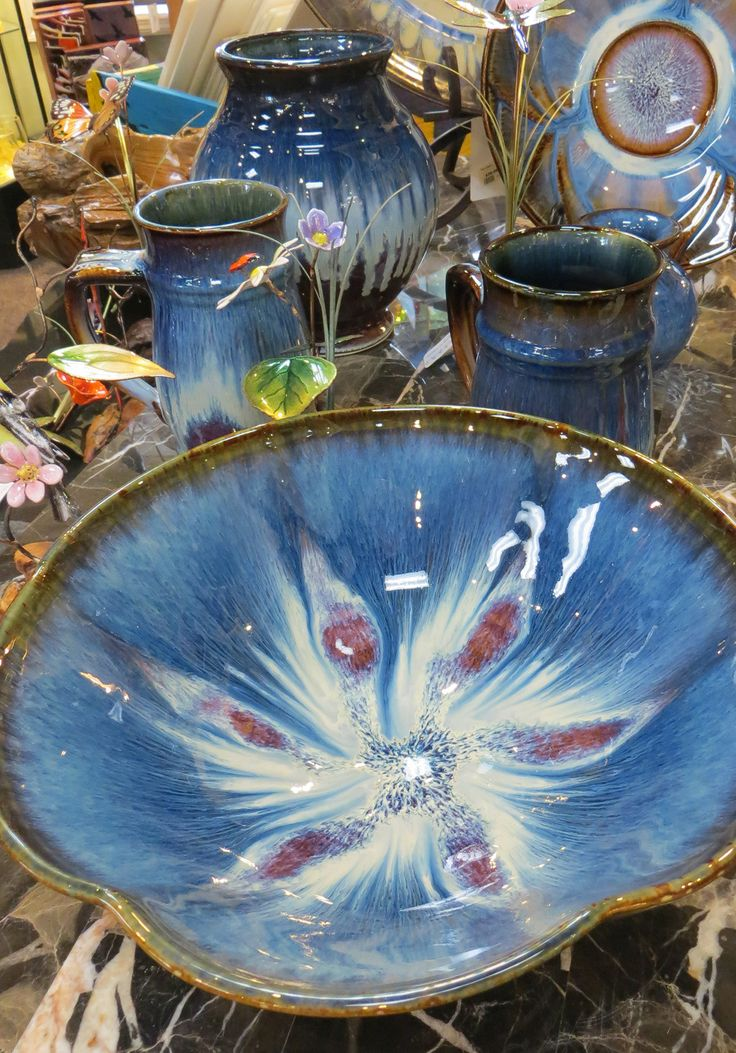 Glazed porcelain by nationally acclaimed pottery Bill Campbell / Campbell Pottery. Made in the USA.