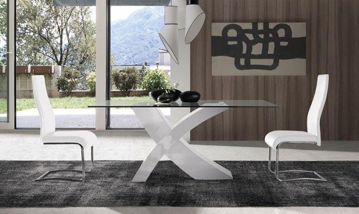Mesa de comedor fija de cristal Iron | Comprar Mesas de comedor en Muebles Rey