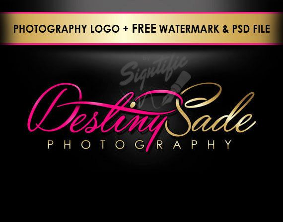 Custom photography logo FREE watermark and PSD source by Signtific