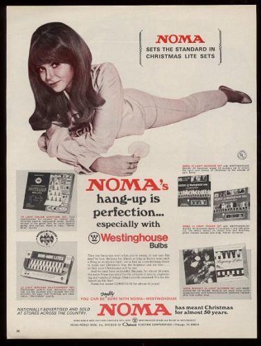 1969 Noma Christmas Light Tree Bulb Set Mod Girl Photo Vintage Print Ad   eBay
