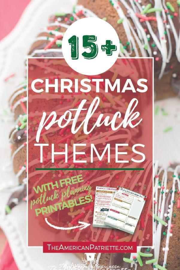 15 Fun Christmas Potluck Theme Ideas