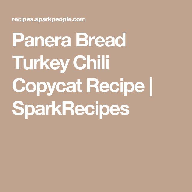 Panera Bread Turkey Chili Copycat Recipe | SparkRecipes