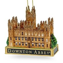 Honor the history and elegance of the grand architectural style of Highclere Castle (more famously known as Downton Abbey) with this beautifully detailed ornament.