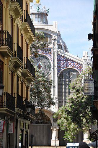 Valencia, mercado central, por Alexandre Soler marche y Francesc Guardia (inaugurado en 1928) España