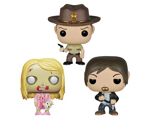 Дэрил, Шериф и Ходячий, набор виниловых мини-фигурок, Walking Dead