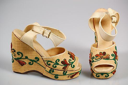 Straw Sandals, 1945 American