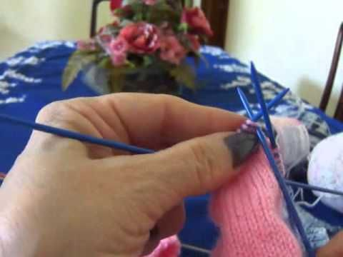 ▶ Novo video parte 2/2 - Vídeo Aula meia de tricô para bebê Parte 2 - YouTube