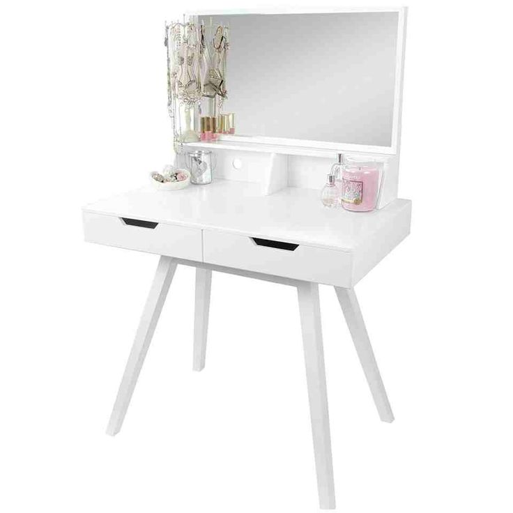 SEA147 Masă de machiaj pentru dormitor - stil modern - http://www.emobili.ro/cumpara/sea147-set-masa-alba-toaleta-cosmetica-machiaj-oglinda-masuta-vanity-818 #eMobili