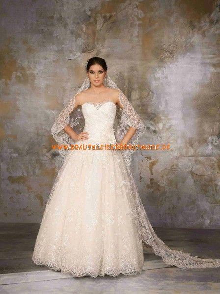 2013 Sexy Türkische Brautkleider aus Tüll und Satin A-Linie Herzausschnitt