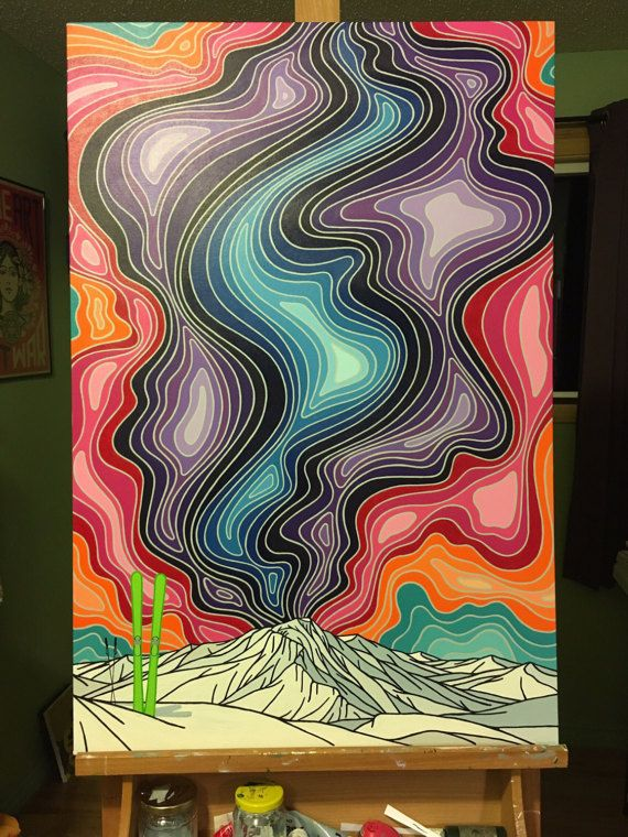 An Awesome Wave 24x36 Original Painting by summerbreeze on Etsy