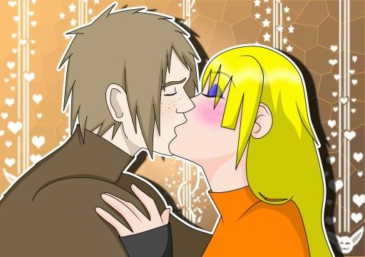 Zora and Tsuyoshi kiss