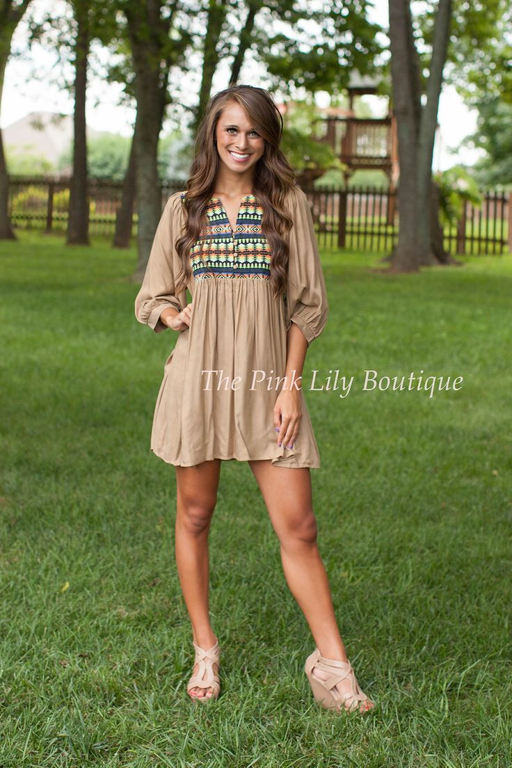 The Pink Lily Boutique - Pumpkin Patch Tunic Dress, $34.00 (http://thepinklilyboutique.com/pumpkin-patch-tunic-dress/)