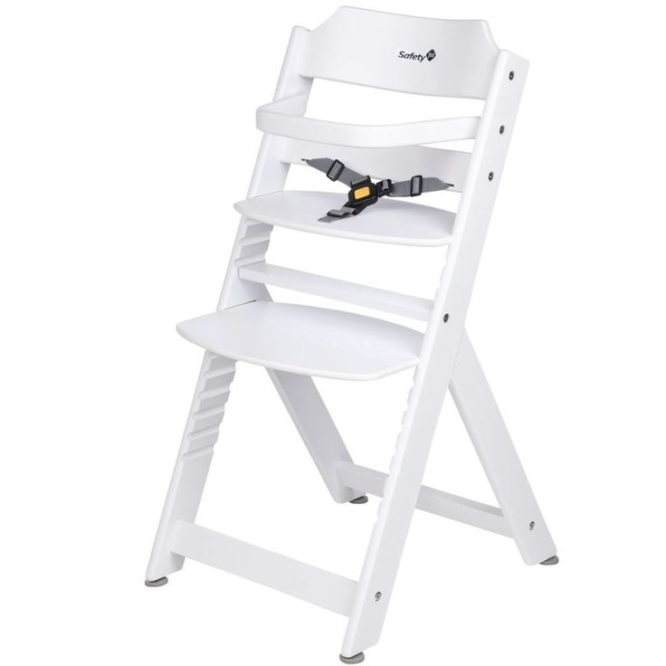 Adjustable Baby High Chair Infant Seat Child Wood Toddler Safe Comfortable White #AdjustableBabyHighChair