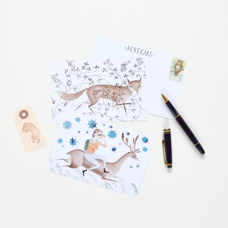 Thickets postcard set by Julianna Swaney