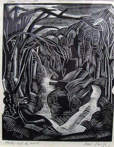 Paul Nash,  Places.  wood print.