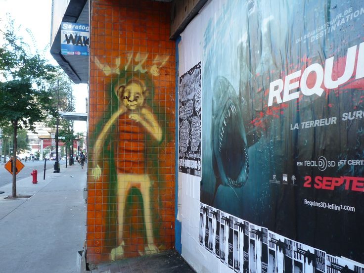 Canada, Montreal, red tiles