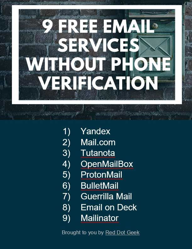 12 Free Email Services (Without Phone Verification) | wow | Free