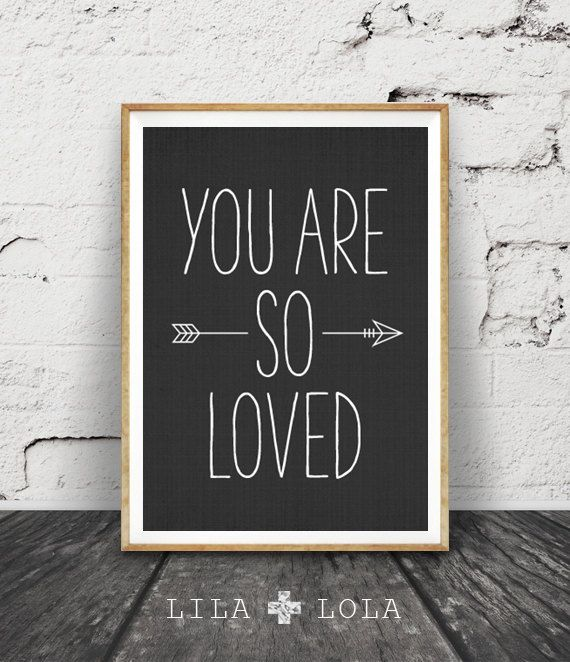You Are So Loved Print Quote Nursery Print Love Quote by LILAxLOLA