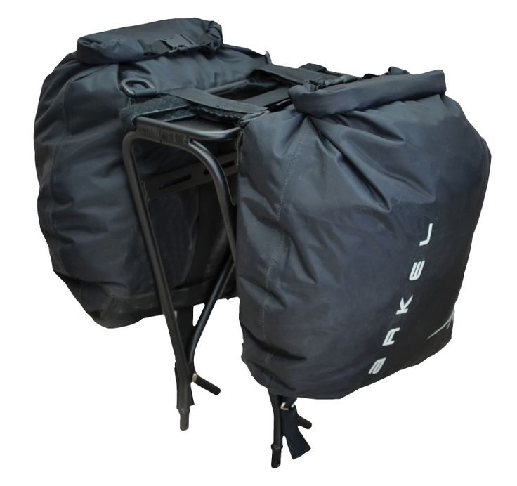 At only 420 grams for the pair, these are the world's lightest waterproof panniers.