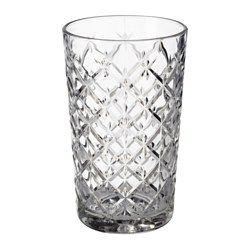 IKEA - FLIMRA, Glas, Durch die schlichte, gerade, hohe Form eignet sich das Glas bestens für kalte Getränke jeder Art, z. B. kohlensäurehaltige Drinks mit viel Eis.