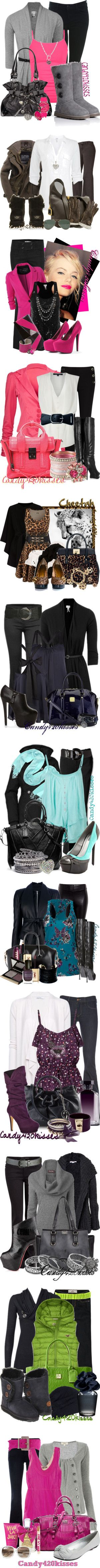 """recent fall sets"" by candy420kisses on Polyvore"