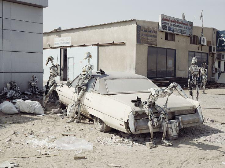 """""""The Buick"""", 2009. Photographie par Cédric Delsaux.  Tirage Fine Art Baryté contrecollé sur alu, signé, daté et numéroté."""