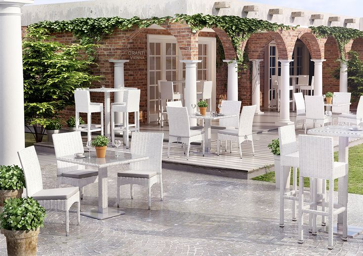 Zahradní židle z umělého ratanu Strato bila