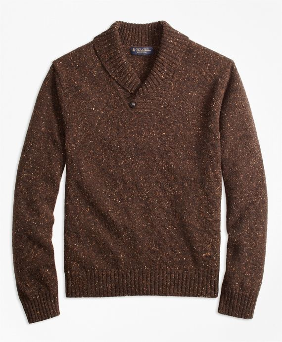Donegal Shawl Collar Sweater - Brooks Brothers