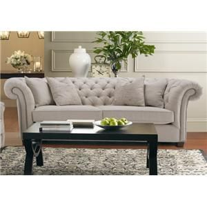 Churchill Tuxedo Sofa with Button Tufting by Decor-Rest - Gardiners Furniture - Sofa Baltimore, Towson, Pasadena, Bel Air, Westminster, Catonsville, Maryland